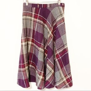Vintage Union tag Purple Plaid Skirt Size 13/14